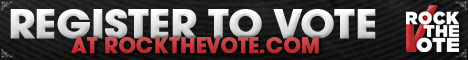 Register to Vote: Rock the Vote, powered by Credo Mobile