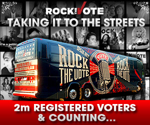 Get on the bus with Rock the Vote